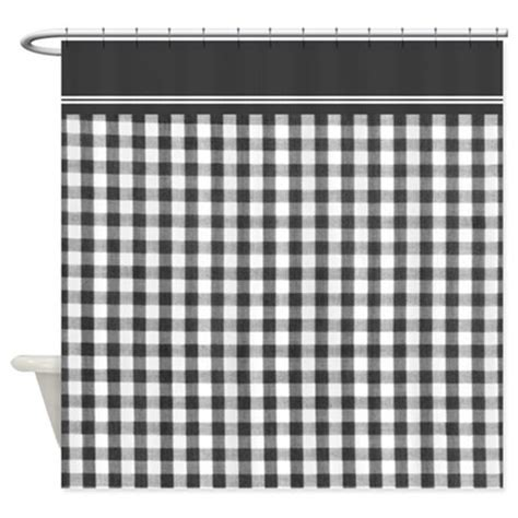 Black And White Checkered Curtains Black And White Gingham Shower Curtain By Inspirationzstore