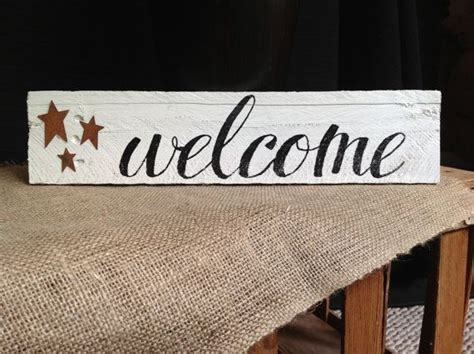 Handmade Welcome Signs - lovely handmade welcome sign with rustic