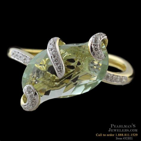 bellarri jewelry 18k yellow gold prasiolite ring