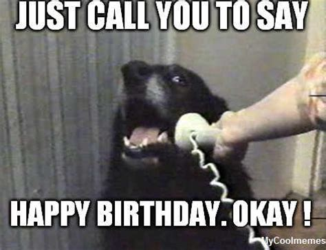 Happy Birthday Funny Memes - funny happy birthday dog meme mycoolmemes