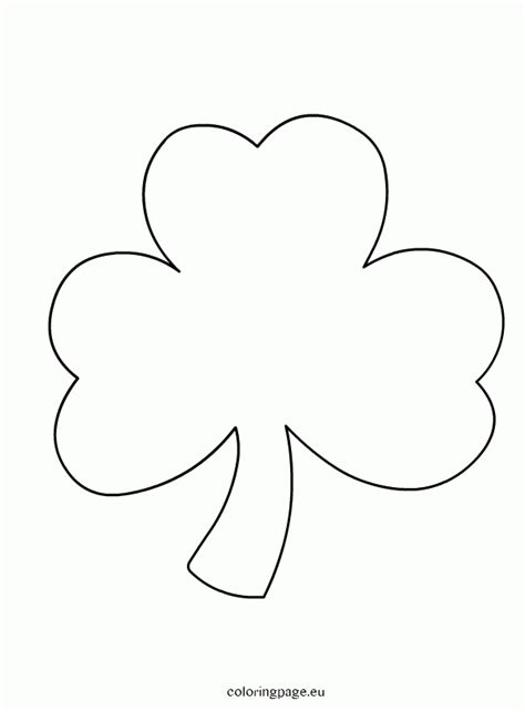 shamrock coloring page clover coloring page coloring home
