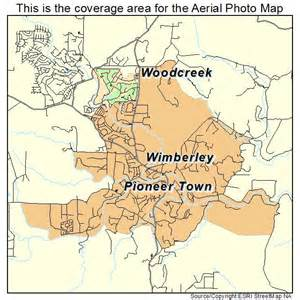 aerial photography map of wimberley tx