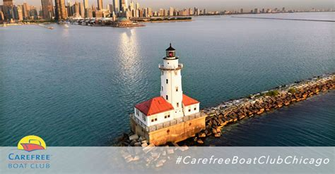 carefree boat club of chicago chicago harbor lighthouse carefree boat club