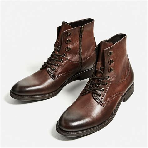 brown boat shoes zara image 2 of brown leather boot from zara how to dress a