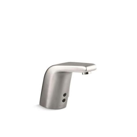 kohler sculpted battery powered touchless bathroom faucet