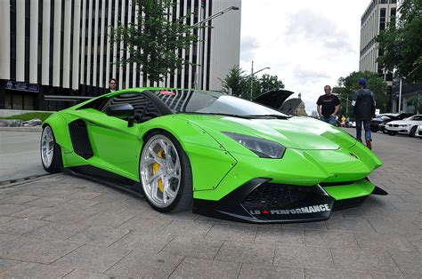 How Much Are Lamborghini Aventador Cars Don T Get Much Crazier Than A Lime Green Liberty Walk