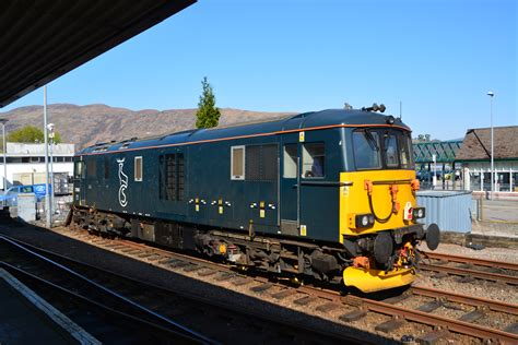 Fort William Sleeper by File 73966 Class 73 Electro Diesel In Caledonian Sleeper Livery At Fort William Station Jpg