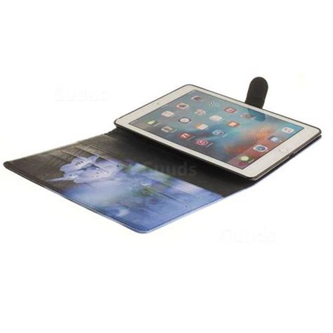 Flip Cover For Pro 9 7 blue flowers painting tablet leather wallet flip cover for