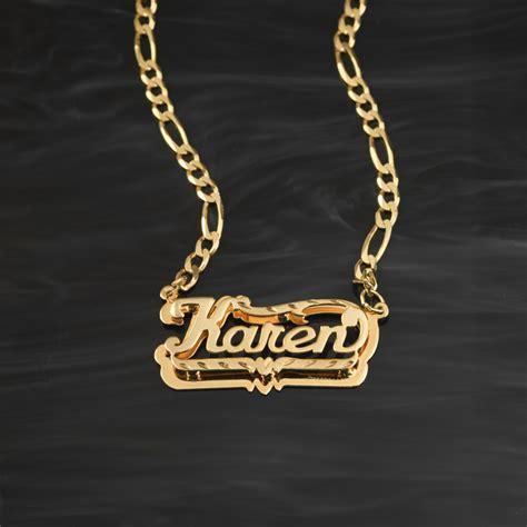 gold nameplate necklace grosir baju surabaya