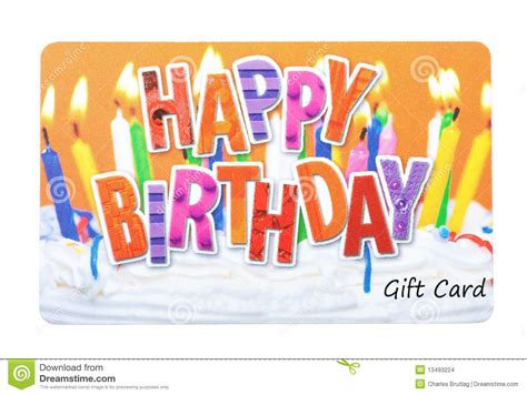 Gift Cards Birthday - birthday gift card stock images image 13493224