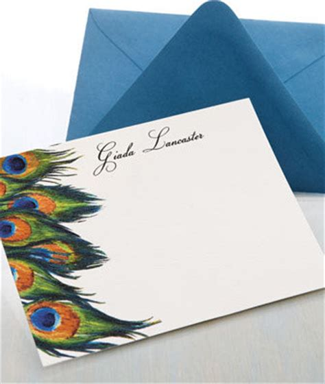 Peacock Desk Accessories 25 Personalized Peacock Cards Traditional Desk Accessories By Horchow