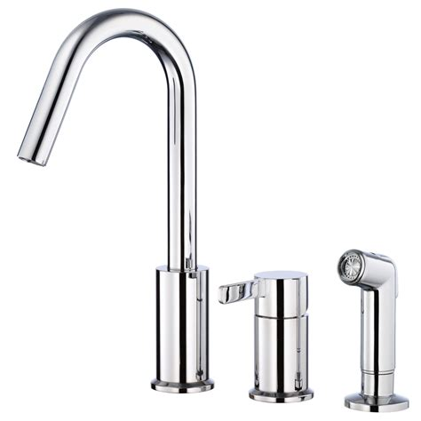 danze kitchen faucet shop danze amalfi chrome 1 handle deck mount high arc