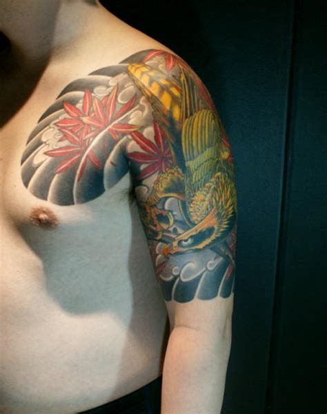 shoulder japanese phoenix tattoo by maverick ink