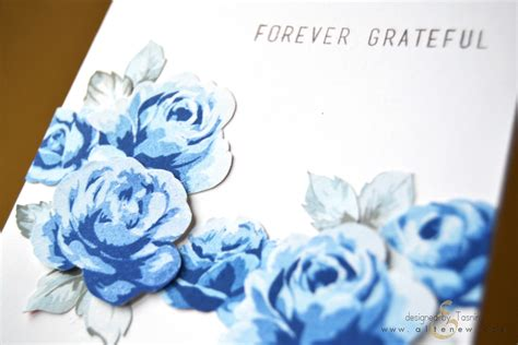 blue roses cover your tracks paper crafts scrapbooking special thanks altenew