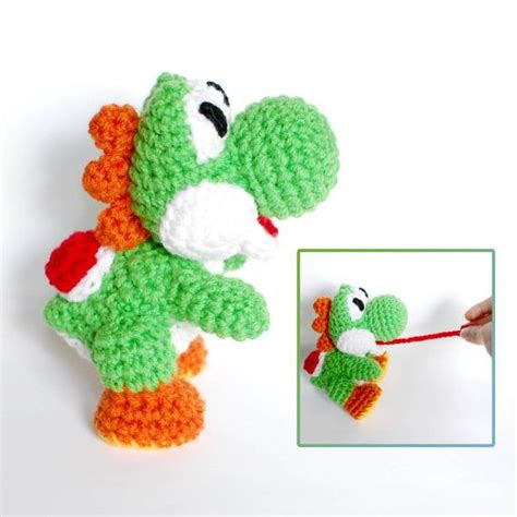 yoshi crochet amigurumi plush doll inspired by