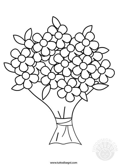 disegni di mazzi di fiori mazzo di fiori da colorare tuttodisegni
