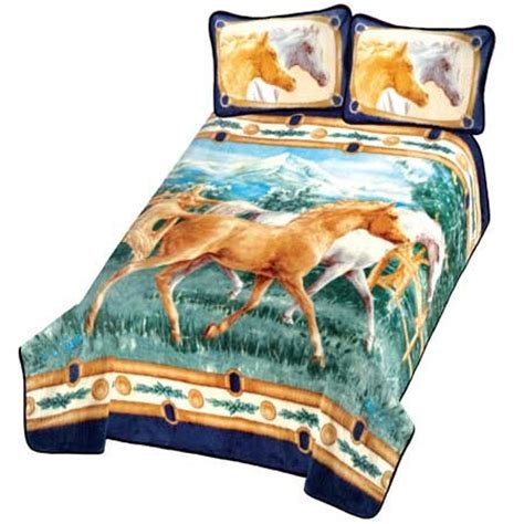 horse blankets for beds wild spirit horse bed in a bag