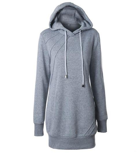 Hoodie Shirt sleeve hoodie hooded dress casual coat sweatshirt shirt pullover ebay