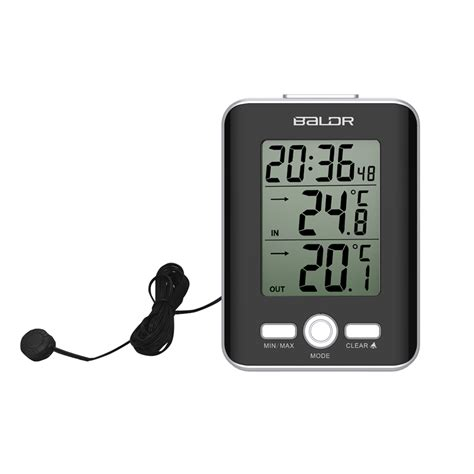 Baldr Jam Alarm Led Thermometer Weather Station With Probe baldr jam alarm led thermometer weather station with probe black jakartanotebook