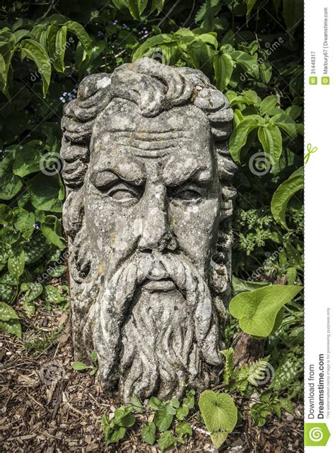 bearded heat l bearded stock image image of statue garden