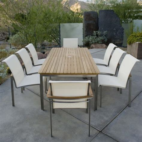 stainless steel patio furniture kingsley bate tivoli stainless steel and teak outdoor