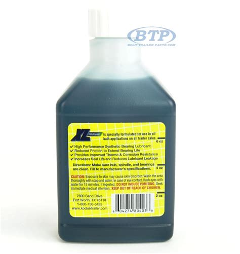 bathroom lube kodiak xl pro lube 8 oz trailer bearing oil for oil bath hub kits