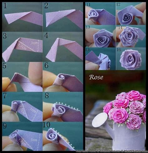 How To Make Origami Paper Flowers - how ot make a paper