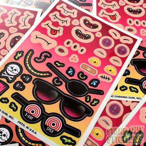 Sticker Cutting Custom 8 bit unique custom sticker sheets standout