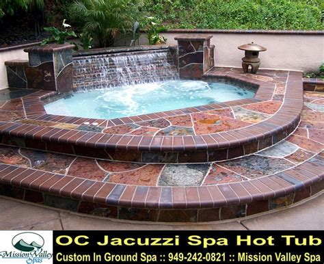 backyard design for inground tub spa oc spa