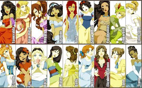 s princess princess and non princess line up disney princess fan