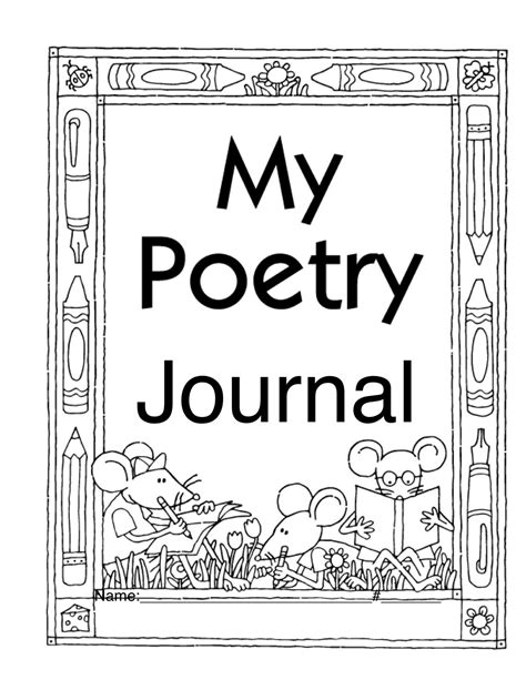 printable poetry book template free printable poems for first graders printable