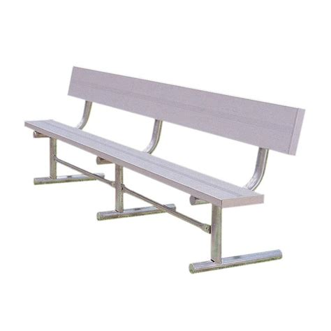 aluminum benches ultra play 15 ft aluminum portable commercial park bench with back surface mount