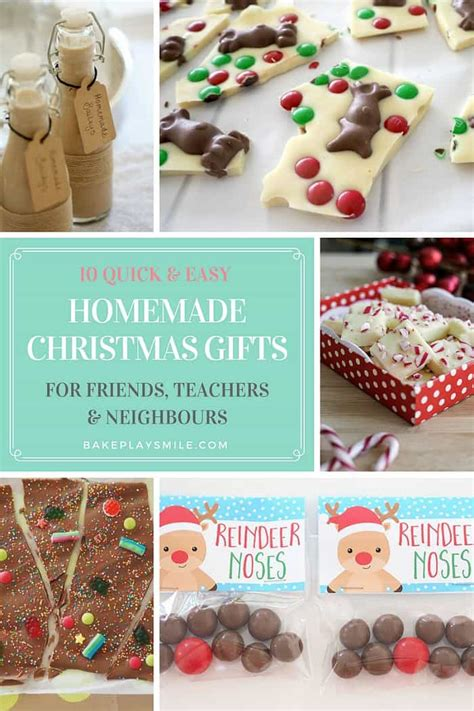 10 easy christmas gifts to make 10 easy gifts for teachers friends neighbours bake play smile