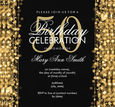 50th anniversary invitations templates 45 50th birthday invitation templates free sle
