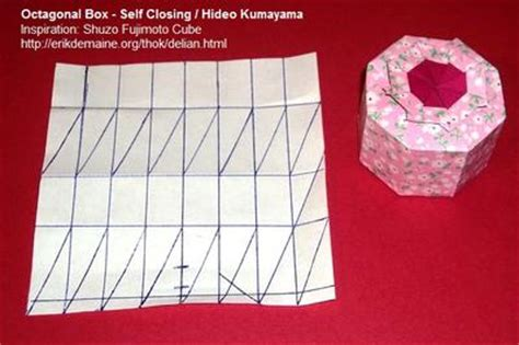 Self Closing Origami Box - octagonal box self closing