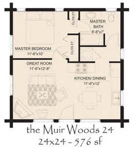 Mother In Law Cottage Plans muir woods 24 log home floor plan jpg 600 215 665 pixels