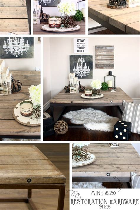 20 inspirations of diy restoration hardware coffee table diy brickmaker s coffee table