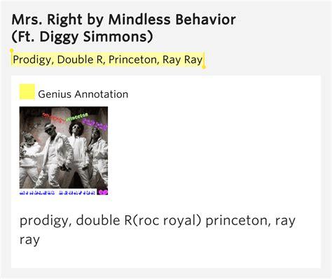 lyrics mindless behavior prodigy r princeton mrs right