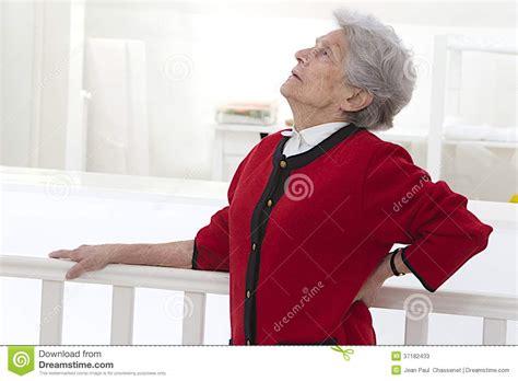 Elderly Woman Feeling Unwell With Back Pain Stock Photos   Image: 37182433