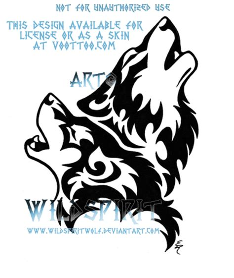 howling wolf tribal tattoo tribal wolf howling designs