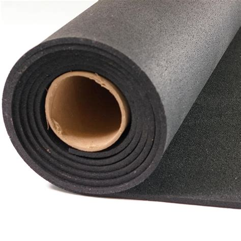 shop nutek 48 in x 120 in black loose lay solid color rubber sheet multipurpose flooring at
