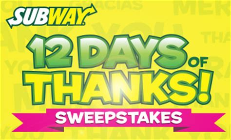Subway Sweepstakes - queen bee coupons savings