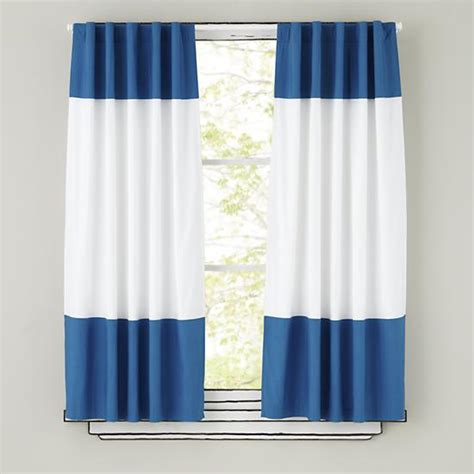 Beautiful Boys Room Window Treatments #3: Blue-And-White-Curtains.jpg