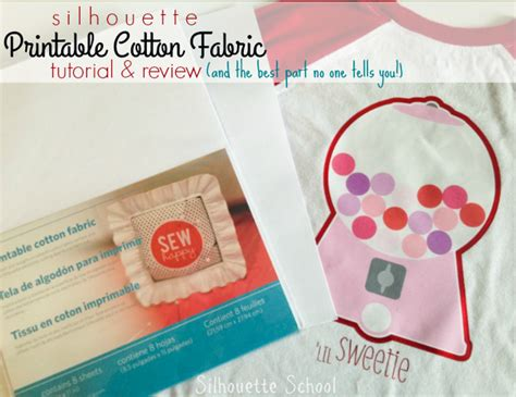 printable fabric reviews silhouette printable cotton fabric tutorial and review
