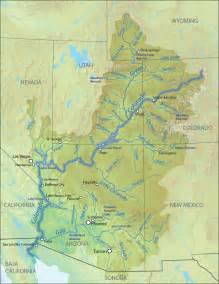 colorado river map colorado river american rivers