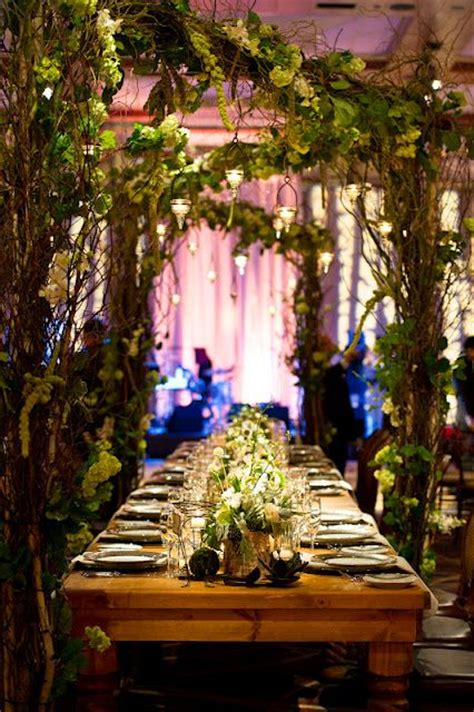 Forest Wedding Decor by This Nature Themed Mandy Dewey Seasons Hotel Baltimore