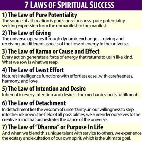 the seven spiritual laws 059304083x 25 best images about laws of attraction on