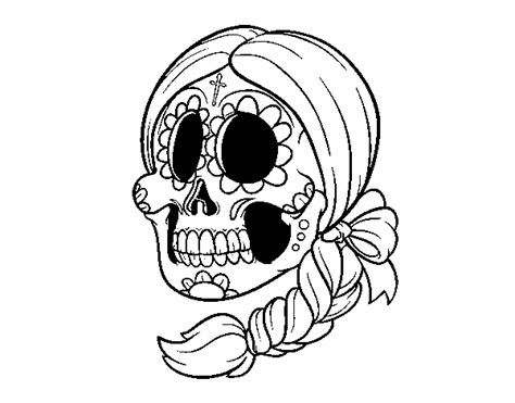 Free Coloring Pages Of Mexican Skulls Mexican Skull Coloring Pages