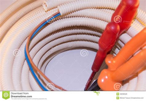 diy electrical installation stock photo image of line