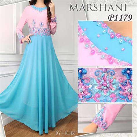 Gamis Syari Wanita Nada Pink Kombi Tosca gaun pesta marshani p1179 sifon baju gamis modern